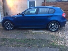 Blue BMW 118d hatchback with tow-bar & brand new tires