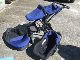 Ickle Bubba Pram/Stroller Carry cot South Belfast Fold down