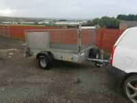 Ifor williams p7e trailer with mesh greedy sides flotation tyres