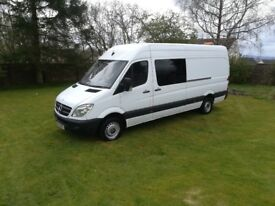 2012 MERCEDES SPRINTER 313 LWB YEAR'S MOT £5750 NO VAT!!!