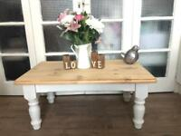 CHUNKY COFFEE TABLE FREE DELIVERY LDN 🇬🇧SOLID WOOD FARMHOUSE Shabby Chic