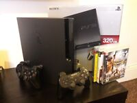 SONY Playstation 3 Console (PS3) 320GB SLIM + 3 Games