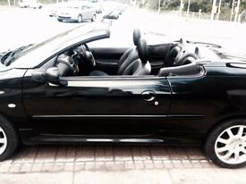 Peugeot car 206 cc convertible 2007
