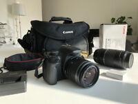Canon EOS 550D SLR Camera Kit (Body + 2 Lenses + Bag + Battery + Charger)