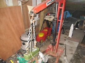 rebuilt engine, gearbox, differential and other parts. also engine hoist