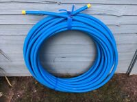 50m of 25mm blue MDPE pipe £20