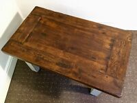 Solid Wood Restored Distressed Coffee Table