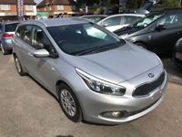 2013/13 KIA CEE'D 1.4 CRDI DIESEL ESTATE 1 ECO-DYNAMICS, £20 PER YEAR ROAD TAX, BLUETOOTH PHONE