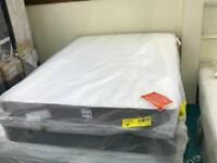 New King-Size Bed. Silentnight Slender divan base with drawers and a Comfort Mattress by Forty Winks
