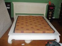 LARGE FREE STANDING BED AND HEADBOARD