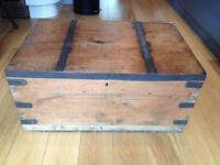 Old Wooden Storage Chest