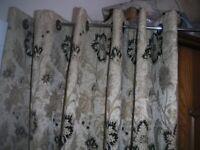 3 Pairs of Dunelm Mill Heavy Brocade Curtains