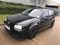 2003 VOLKSWAGEN GOLF R32 5DR BLACK