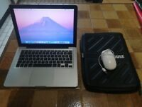 """MacBook Pro, 13"""" Early 2011 with Apple Mouse and Laptop Case [CHARGER NOT INCLUDED]"""