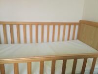 Baby/ kid cot and mattress in excellent condition