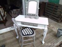 dressing table chair & mirror