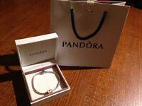 Genuine PANDORA bracelet 20cm with charm