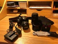 Canon 450D SLR with accessories