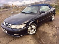 2000 SAAB CONVERTIBLE ++ ALLOYS ++ LEATHER ++ ELECTRIC ROOF ++ FULL MOT.