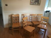 6 Wooden Dining Chairs for Sale
