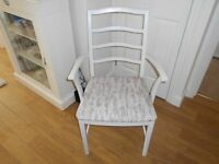 VINTAGE CARVER CHAIR PAINTED CORNFORTH WHITE