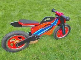 Childs balance bike - motorbike style