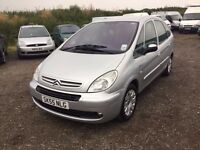 55 REG CITREON PICCASSO DIESEL MPVEHICLE NICE DRIVING FAMILY DIESEL CAR VERY EVONOMIC AL ANYTRIAL
