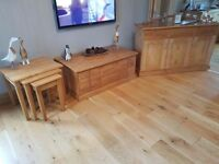 Sideboard, nest of tables, coffee table/TV stand