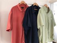 Men's shirt sleeve shirts x 3 Size 5XL