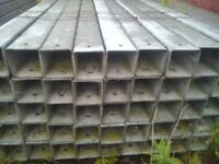 "4"" galvanised box section"
