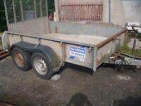 Ivor Williams 8ft x 5ft twin axel trailer.