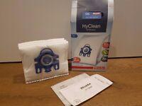 Miele vacuum cleaner dust bags x3