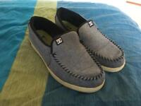 DC grey slip on skate shoes UK size 9