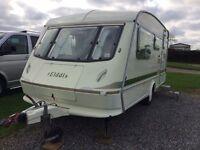 1992 Elddis Shamal XL 4 berth caravan, awnings and accessories