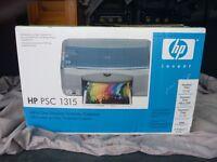HP PSC1315 Printer Scanner all-in-one printer scanner copier + new HP black ink cartidge