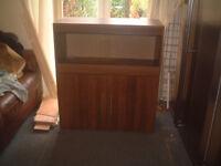 brand new 3ft vivarium and cabinet in opra wallnut