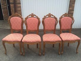 Set of 4 vintage solid wood chairs