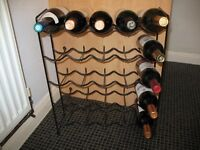 Free Standing Sturdy WINE RACK 25 x bottles Slim, takes up little room, under work surface, cupboard