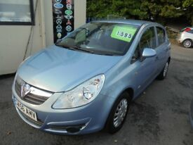 VAUXHALL CORSA 1229cc LIFE 5 DOOR HATCH 2007-56, 1 FORMER KEEPER, 89K FROM NEW,