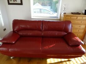 Harvey's samara 3 seater leather sofa