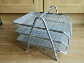 3 tier metal document tray organiser
