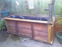 fish pond 6ft x 2ft x 2ft as you can see in pic 45 pound pond only extra if want plants