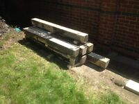 7x lengths of reclaimed timber , 145/145mm [ 6/6ins ]