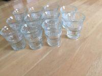 11 shot glasses