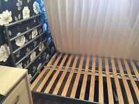 Metal bed frame - fits double size mattress