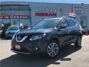 2015 Nissan Rogue SL AWD| LEATHER| NAVI| BOSE| FEB| BLIND SPOT