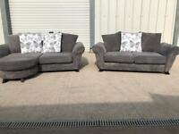 Grey dfs corner sofa & 2 sea, furniture(sold pending)