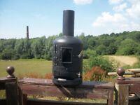 Gas Bottle Wood Burner with Glass Window