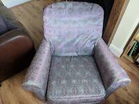 Bright patterned armchair (35 inch / 89 cm, 30 inch / 76 cm, 30 inch / 76 cm)