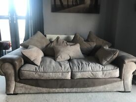 Sofa and snuggle chair for sale